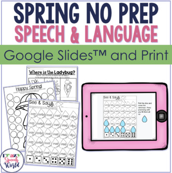 Spring NO PREP Speech Therapy Activities!