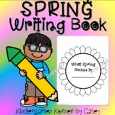 Spring NO PREP Sunflower Writing Book Kindergarten 1st Pro
