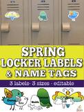 Spring Name Tags & Locker Labels (Editable)