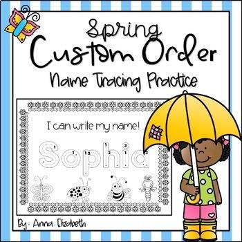 Spring Name Tracing Practice (Custom Order)