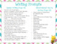 Spring Napkin Book Writing Prompts