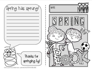 Spring Nature Booklet {A booklet of activities celebrating spring}