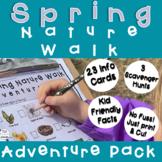 Spring Nature Walk Scavenger Hunt and information cards