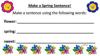 Spring Edible Flower Language Activity!