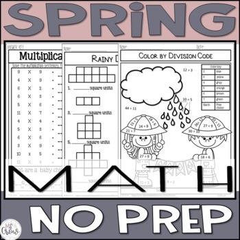 Spring No Prep Math ~3rd Grade~