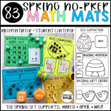 Kindergarten Math Centers - Spring No-Prep Mats (80+ Center Mats)