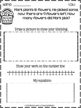 Spring No Prep Math Common Core Printables
