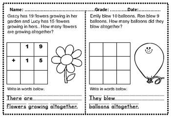 Spring No Prep Math Packet Kindergarten K1 to K5