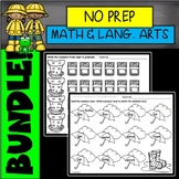 Spring No Prep Math and Language Arts Printables BUNDLE