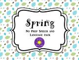 Spring No Prep Pack Speech & Language