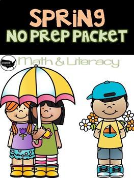 Kindergarten/1st Grade Math and Literacy Printables-Spring
