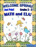 Spring No Prep Printables Grades 2 - 3 Math and ELA
