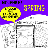 NO PREP Spring Speech and Language Activities