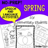 NO PREP Spring Speech and Language Activities