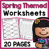 Spring Worksheets - No Prep Math and Literacy