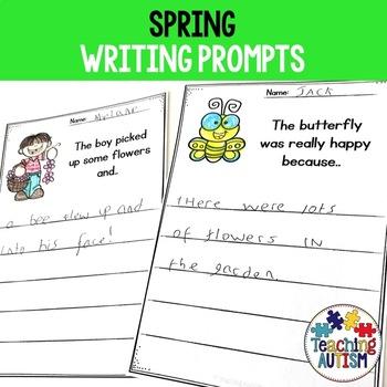 Spring No Prep Writing Prompt Worksheets