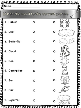 Spring - No prep printable activities