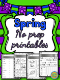 Spring - No prep printable activities