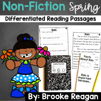 Spring Non-Fiction Differentiated Reading Passages and Questions