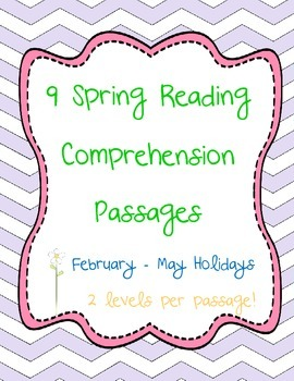Spring Nonfiction Reading Comprehension Passages