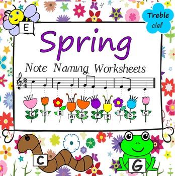 Spring Note Naming Worksheets.