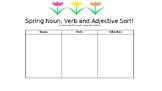 Spring Noun, Verb and Adjective Sort
