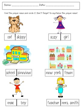 Spring Nouns, Adjectives, and Verbs practice games, activities, and assessments