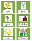 Spring Nouns, Adjectives, and Verbs practice games, activi