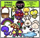 Spring Nouns Clip Art Bundle {Educlips Clipart}
