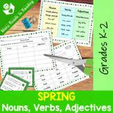 Spring Nouns, Verbs, Adjectives Grades 1-2
