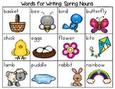 Spring Nouns, Verbs, Adjectives, Parts of Speech Word List - Writing Center