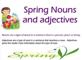 Spring Nouns and Adjectives Flipchart