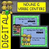 Spring Nouns and Verbs Digital Centers