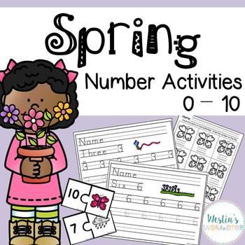 Spring Number Activities 0 - 10