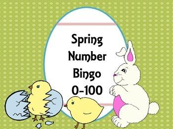 Spring Number Bingo