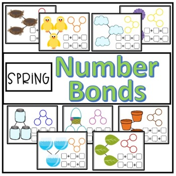 Spring Number Bond Math Mats (Composing and Decomposing Numbers)