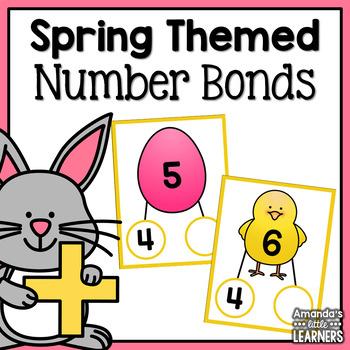 Spring Number Bonds Activity - Easter