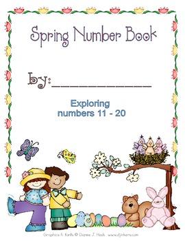 Spring Number Book : Exoloring #'s 11-20