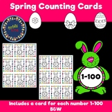 Spring Number Cards B&W