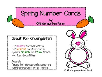 Bunny and Carrot Number Cards - Great for spring!