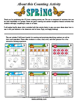 Spring Number Counting Activities