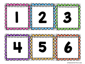 Spring Number Counting Cards - Pre-K, Preschool, and Kindergarten