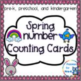 Spring Number Counting Cards - Pre-K, Preschool, and Kindergarten