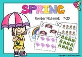 Spring Number Flashcards 1-20