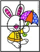 Spring Number Fluency Puzzle Cards | Spanish | 1-10