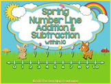 Spring Number Line Addition & Subtraction Within 10