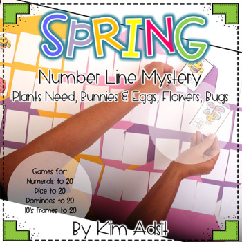 Spring Number Line Mystery by Kim Adsit