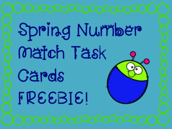 Spring Number Match Task Cards