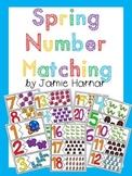 Spring Number Matching 1-20