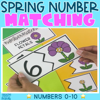 Spring Number Matching Cards (1-10)